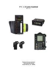 F I + Z Lens Control - Cinematography Mailing List