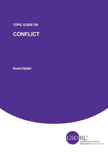 Topic Guide on Conflict - GSDRC