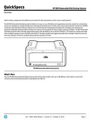 HP RDX Removable Disk Backup System - Hewlett Packard
