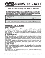 MSD Digital 6A and 6AL Ignition Control - Jegs