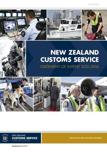 New Zealand Customs Service Statement of Intent 2013–2016