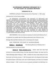 Ordinance Amending RRF Bonds - Jackson County