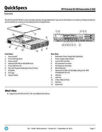 HP ProLiant DL180 Generation 6 (G6) - Hewlett Packard