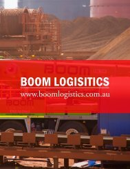 BOOM LOGISITICS - The International Resource Journal