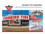 RBC 2010 Retail & Consumer Conference - Canadian Tire ...