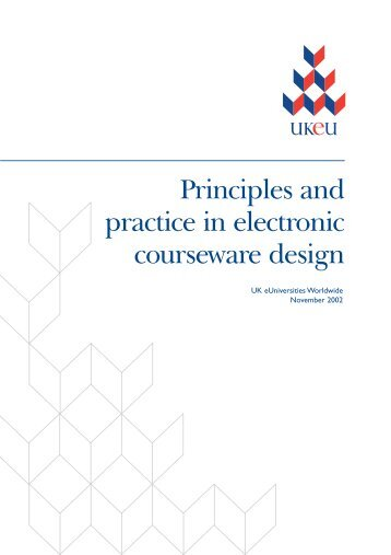 Principles and practice in electronic courseware design