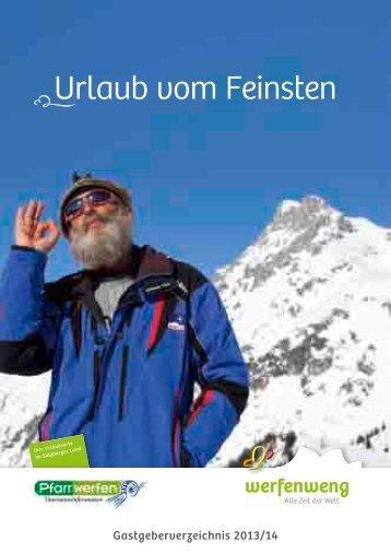 Gastgeberverzeichnis 2013/2014 - Werfenweng