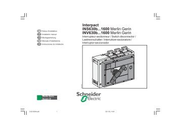 Masterpact NT, Compact NS630b-1600 Merlin Gerin