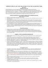Bakalářských a navazujících magisterských studijních programů
