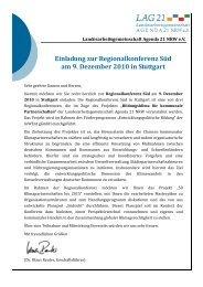 Einladung zur Regionalkonferenz Süd am 9. Dezember 2010 in ...