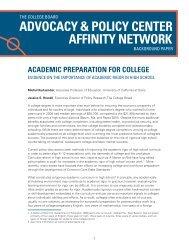 Academic Preparation for College - College Board Advocacy ...
