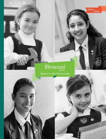 Report to the Community - Elmwood School
