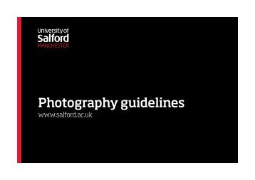 Photography guidelines - University of Salford