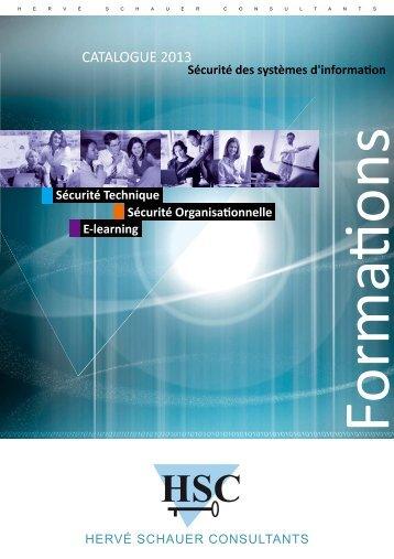 Catalogue des formations au format PDF - Herve Schauer Consultants
