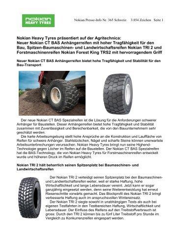 Neuer Nokian CT BAS Anhängerreifen mit hoher ... - Nokian Tyres