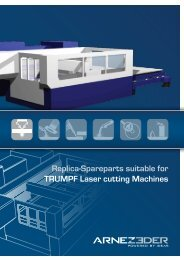 Replica-Spareparts suitable for TRUMPF Laser ... - ARNEZEDER