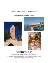 Gay Tour of Morocco - Venture Out