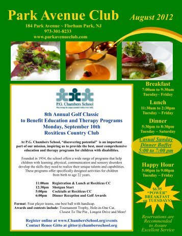 August 2012 Newsletter - Park Avenue Club