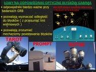 łowy na odpowiedniki optyczne błysków gamma - Pi of the Sky