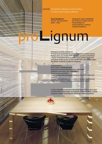 Seminář Energeticky efektivní stavění ze dřeva, inovativní ... - proHolz