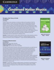 Condensed Matter Physics - Cambridge University Press India