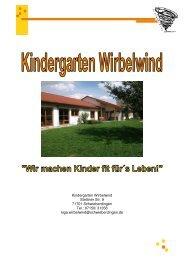 Konzeption des Kindergarten Wirbelwind