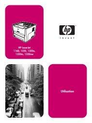 HP LaserJet 1160 and HP LaserJet 1320 Series ... - Hewlett Packard