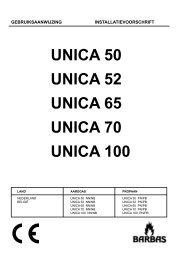 Gebruiksaanwijzing Barbas Unica 50 - UwKachel