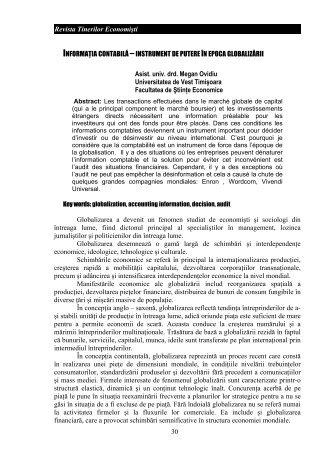 30 Revista Tinerilor Economiúti INFORMA IA CONTABIL ... - FEAA