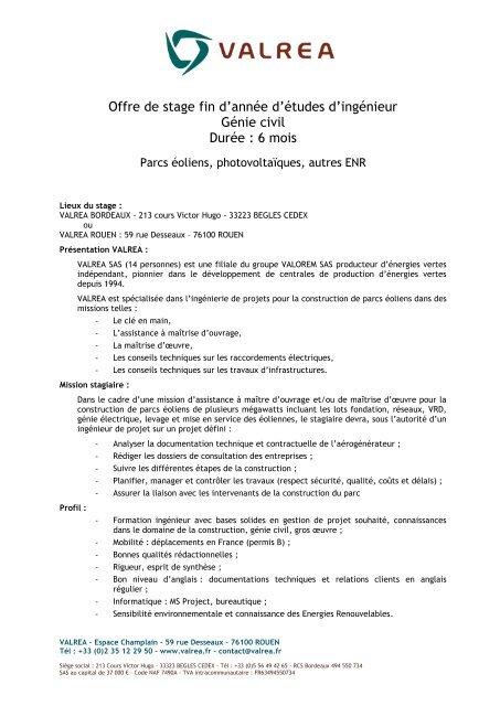 Offre de stage fin d'année d'études d'ingénieur Génie civil ... - OVH.net