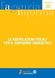 le agevolazioni fiscali per il risparmio energetico - Pontani Service