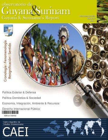 Observatorio de Guyana y Surinam - Primavera Sur 2011 - CAEI