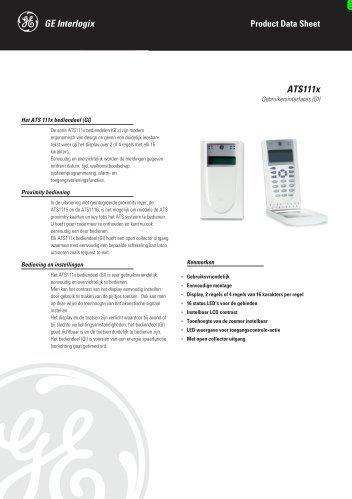 ATS111x - DATASHEET - NL - De Beveiligingswinkel