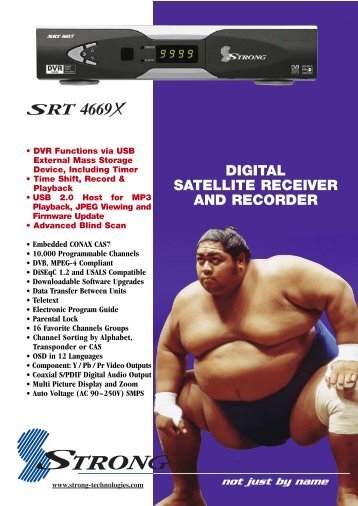 DIGITAL SATELLITE RECEIVER AND RECORDER - MyTV