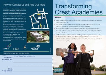 the Crest Academy newsletter June 2012 - Wates