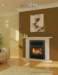 Zero Clearance Fireplaces - Galaxy - Supreme Fireplaces