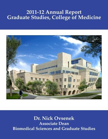 2011-12 Annual Report Graduate Studies, College of Medicine