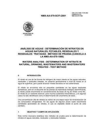 NMX-AA-079-SCFI-2001 ANÁLISIS DE AGUAS - DETERMINACIÓN ...