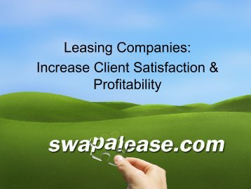 Lessors click here for more information - Swapalease.com