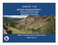 aashto t-18 bridge management , evaluation and rehabilitation