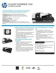 Hp Scanjet Enterprise 7500 Flatbed Scanner Series Metro Oa Com