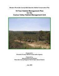 Cactus Valley Habitat Management Unit Plan - Western Riverside ...