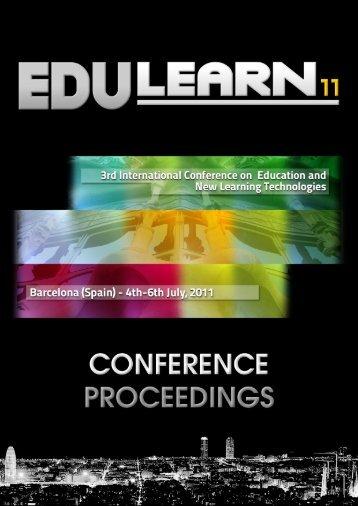 EDULEARN11 Proceedings CD (ISBN: 978-84-615-0441-1) - Portal