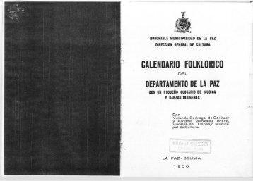 CALENDARIO FOLKLORICO