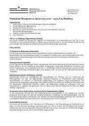 Protokoll der Sitzung vom 21. Januar 2013, 12.00 – 14:00, R 102 ...