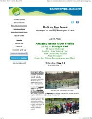 The Bronx River Current, May 2013 - Bronx River Alliance