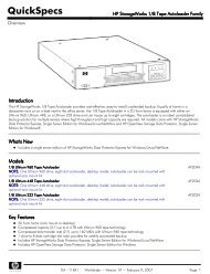 HP StorageWorks 1/8 Tape Autoloader Family -  Hewlett Packard