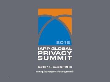 Presentation 1 - International Association of Privacy Professionals
