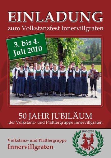 1960-2010 Volkstanz- und Plattlergruppe Innervillgraten