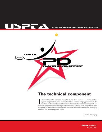 The technical component - United States Professional Tennis ...